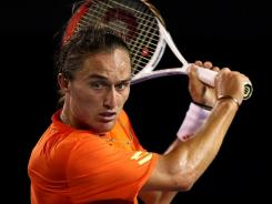 Alexandr Dolgopolov of Ukraine, in the field this week at the Dubai Championships, plays an imaginative game, filled with variety -- and backhand slices.