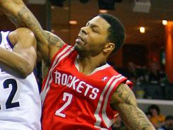 Former Kansas Jayhawk Marcus Morris (2) has appeared in three games this season for the Houston Rockets.