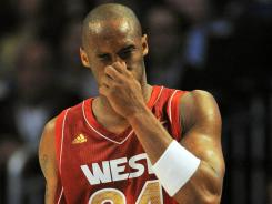 Kobe Bryant, after taking a hard foul from Dwyane Wade that broke his nose in the NBA All-Star Game, will get more tests done.