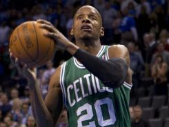 Boston guard Ray Allen led the Celtics to victory Tuesday night with a game-high 22 points.