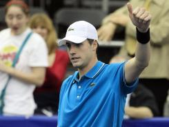 John Isner, shown here at the Regions Morgan Keegan Championships in Memphis last week, advanced to the second round at the Delray Beach International Tennis Championships on Tuesday.