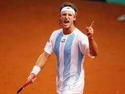 David Nalbandian helped Argentina defeat Germany two and a half weeks ago in the first round of the 2012 Davis Cup.