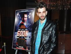 Actor/writer Jay Baruchel arrive at Magnet Releasing's Los Angeles Screening of 'Goon' at DGA Theater on Wednesday in Los Angeles, California. The film is sure to be entertaining to fans of hard-hitting hockey.
