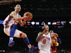 New York Knicks guard Jeremy Lin, with the ball, often scores more in the second half of games than the first.