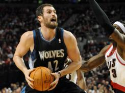Kevin Love was one shy of his career high in Minnesota's win over Portland that got the T'wolves back to .500.