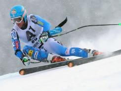 In a file photo from December 2011, Ryan Cochran-Siegle skis to 29th place in the Super G at the Audi FIS World Cup in Beaver Creek, Colo. He won gold at the Alpine Junior World Championships on Thursday.