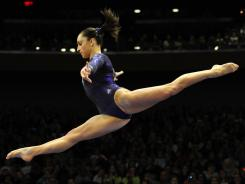 Jordyn Wieber performs on the balance beam during the AT&T American Cup Saturday at Madison Square Garden. Wieber won in the women's all-around competition.