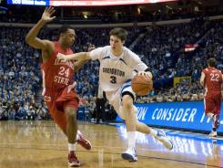 Doug McDermott had 33 points and Creighton survived an upset bid in the Missouri Valley Conference tournament final with an 83-79 victory over Illinois State on Sunday.