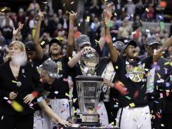 Purdue celebrates its eighth Big Ten tournament championship.