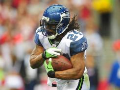 Marshawn Lynch set career highs in 2011 with 1,204 rushing yards and 12 touchdowns.