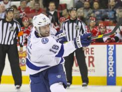 Tampa Bay Lightning right wing Teddy Purcell has 19 points during a nine-game point streak.
