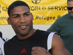 Cuban-born boxer Yuriorkis Gamboa, shown last December. Gamboa did not show up for a press function in Miami Monday.