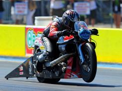 Eddie Krawiec won four events last year on his way to the 2011 Pro Stock Motorcycle title.