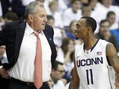Connecticut coach Jim Calhoun and guard Ryan Boatright are in a similar position to the one they found themselves in ahead of last year's Big East conference tournament.