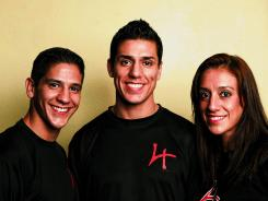 Siblings Mark Lopez, left, Steven Lopez and Diana Lopez will all be in Colorado Springs for the U.S. Olympic taekwondo trials.