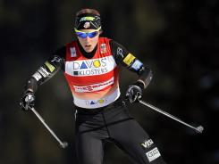 Kikkan Randall, shown here during a Dec. 11 World Cup race in Switzerland, finished 11th in Wednesday's race in Norway to secure the World Cup sprint championship with one race left this season.