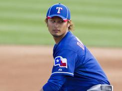 Yu Darvish struck out three batters and allowed two hits in two innings Wednesday.