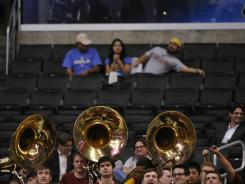 There were plenty of seats behind the USC pep band during a Pac-12 tournament game at Staples Center earlier this week.