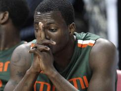Miami guard Durand Scott has been suspended by the university.