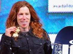 Shaun White won the gold medal in the men's snowboard superpipe final during Winter X Games 2012 at Buttermilk Mountain on Jan. 29 in Aspen, Colorado. White earned his fifth consecutive gold medal in the event and scored a perfect 100 points on his final run.