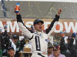 Ricky Stenhouse won the Sam's Town 300, representing his first Nationwide Series win of the season.