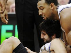 Minnesota Timberwolves rookie point guard Ricky Rubio was injured ate in Friday's loss to the Los Angeles Lakers and is done for the season with a torn ACL.