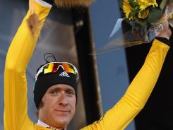 Bradley Wiggins of Great Britain and Team Sky retained his race lead and the yellow jersey after Saturday's stage 7 of the 2012 Paris-Nice from Sisteron to Nice.