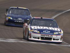 Dale Earnhardt Jr. led 70 of the first 73 races and finished 10th Sunday at Las Vegas Motor Speedway.