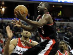 Portland Trail Blazers guard Raymond Felton, with the ball, has been a disappointment this season, scoring a career-low 10.3 points per game.