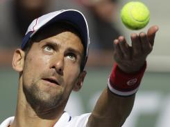 Novak Djokovic advanced to the fourth round of the BNP Paribas Open on Monday.