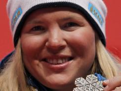 Anja Paerson, here following a third-place finish in a super-combined event in February 2011, medaled 19 times at major championships since her career began in 1998.
