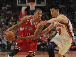 Chicago guard Derrick Rose was fined $25,000 for criticizing officiating following the Bulls' victory over the Knicks on Monday.