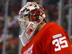 Detroit's Jimmy Howard has missed three games with a groin muscle injury.