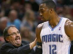 Magic coach says he&#39;s heard that C Dwight Howard has previously asked he be fired