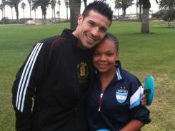 "Sergio Martinez has offered encouragement to Monique McClain, who was bullied every day. ""Sergio stepped in in a time of my life when I didn't think I had anyone on my side,"" she said."