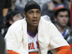New York Knicks star Carmelo Anthony is having a rough time during the team's 2-8 slump.