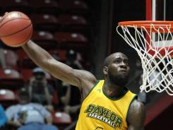 &quot;We've really locked in&quot;: Baylor senior Quincy Acy, practicing for today's game in Albuquerque, says the No. 3 Bears have found rhythm.