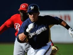 The Brewers' Mat Gamel, right, is taking over for Prince Fielder, who left via free agency, at first base.