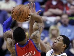 Indiana forward Danny Granger, right, had 20 points to lead the Pacers past the Philadelphia 76ers 111-94 on Wednesday night at Indianapolis.