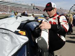 Greg Biffle put his best foot forward at Las Vegas Motor Speedway, finishing third (for the third conseutive race) behind Tony Stewart and Jimmie Johnson.