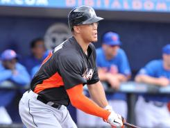"""Manager Ozzie Guillen wants """"a lot of homers"""" from Giancarlo Stanton, above, not just long ones."""