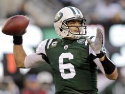 Mark Sanchez threw for a career-high 3,474 yards and 26 touchdowns while also rushing for six scores, but also committed 26 turnovers last season.