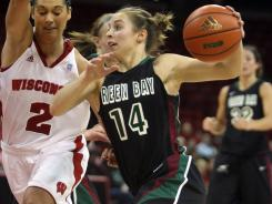 Green Bay coach Matt Bollant handed the starting point guard job to freshman Megan Lukan in December. The Phoenix are 30-1 and a No. 7 seed.