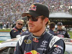 Brian Vickers (shown last year when he was with Red Bull Racing) will be driving five races in Michael Waltrip Racing's No. 55 car, including this week at Bristol Motor Speedway. Mark Martin manned the ride in the first three races.
