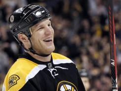 Popular Boston Bruins forward Shawn Thornton will be around for another two seasons.