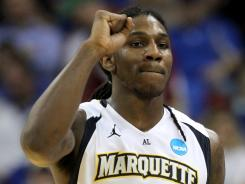 Jae Crowder finished with 17 points for Marquette.