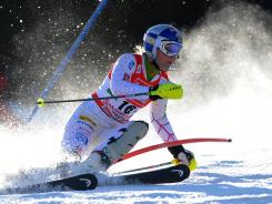 Lindsey Vonn finished just eighth in Saturday's slalom in Austria, but it was good enough to give her the women's World Cup points record.