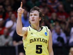 Brady Heslip's nine three-pointers were two short of the NCAA tournament record, but it was more than enough to lift Baylor.