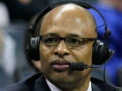 Clark Kellogg, an analyst for CBS, says he hasn't asked to work the same regional where his son is playing for Ohio.