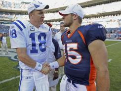 Peyton Manning under center in Denver leaves Tim Tebow's future in doubt.